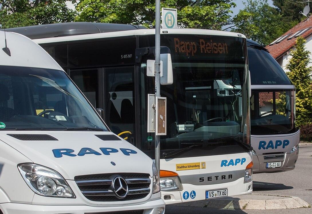 Rapp Busse am Busbahnhof
